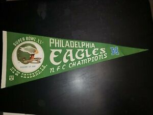 1980/81 Philadelphia Eagles Super Bowl XV Pennant