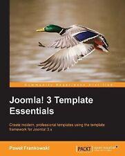 Joomla! 3 Template Essentials by Pawel Frankowski (2013, Paperback, New Edition)