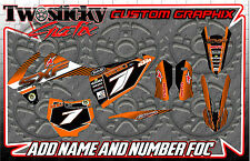 KTM SXF50 SXF65 Graphics Kit with custom numbers etc - SX 50 65 2002-2016