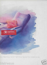 "TWA TRANS WORLD 1995 ""TWA-ONE"" FIRST CLASS OFFICE,BED AIRPLANE SEAT 2 PG AD"