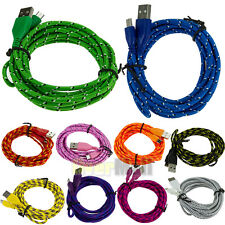 3Ft 6Ft 10Ft Hemp Rope Micro USB Charging Sync Data Cable Cord For Android Phone