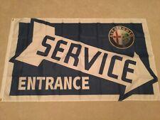 Alfa Romeo service entrance Mito 4C Spider GT GTV workshop flag banner