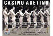 "Vintage Werbeschild 1926 ITALY ""CASINO ARETINO""BORDELL PREIS,ADVERTISING,REKLAME"