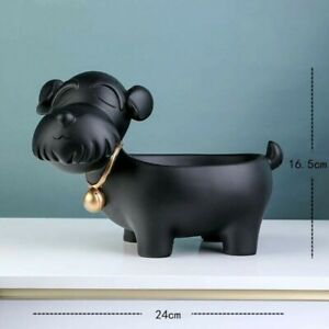 Dog Resin Art Craft Key Makeup Storage Figurine Tabletop Home Office Decoration