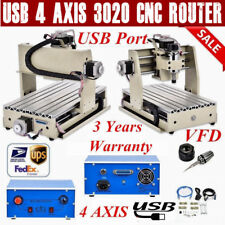 USB 4 AXIS 3020 CNC Router Engraver 3D Drilling Milling Machine Wood & Metal VFD