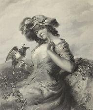 The Gipsy Queen. Stahlstich von F. Joubert nach P. F. Poule, 1860