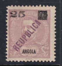 "Angola Scott 117 F/VF LH 1902 Overprint Error ""REUPBLICA"" SCV $110"