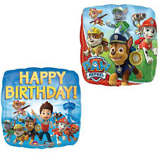 Paw Patrol Foil Balloons Chase Marshal Boys Birthday Party Decorations Set of 2