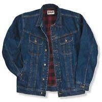 Men's Wrangler Rugged Wear Flannel Lined Denim Jacket Coat All Sizes RJK32AN