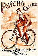 Psycho Cycles Starley Bros  Bicycle Bike Cycle  Poster Print