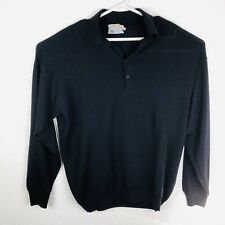 Pronto Uomo Men's Made In Italy Pure Virgin Wool, Black Sweater SZXL/TG.   C90