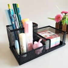 New Table Organizer Metal Black Mesh Desktop Office Pen Pencil Holder Storage