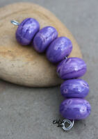 Ultra Violet - Handmade Glass Lampwork Round Beads MTO - Choose etched or glossy