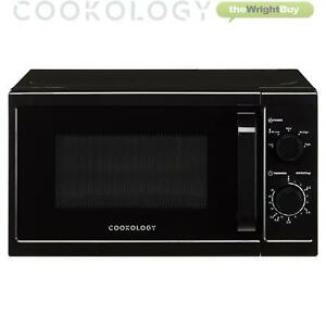Cookology CMAFS20LBK 20L Black Microwave, 800W Freestanding