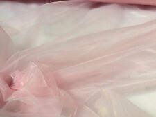 Plain Sheer Organza Tessuto Voile Tende Tulle Matrimonio 295 cm Extra Wide Rosa