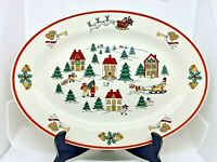 The Joy of Christmas Platter Jamestown China Vintage Meat Serving Dinnerware