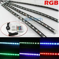 "4 x 12"" RGB Multi Color LED Truck Car Interior Lighting Bar + Remote"
