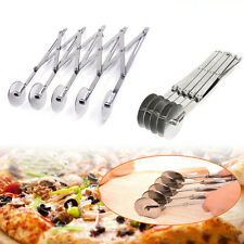 Stainless Steel 5 Wheels Pastry Dough Divider Cutter Roller Pizza Pasta Peeler