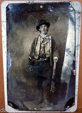 """Billy the Kid Ferrotype Photo Scan on a 8""""x12"""" Aluminum Sign - Made in the USA"""
