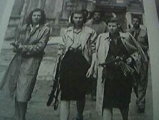 reprint picture ww2 - italian partisans milan 1945 bella figura