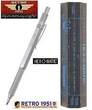 Retro 51 #HEX-615BP / Hex-O-Matic Ballpoint Pen in Silver