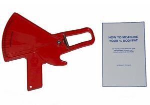 Slim Guide Skinfold Bodyfat Caliper With Manual Body Measurement Percentage