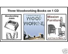 Woodworking & Furniture Building CD - 3 books of plans