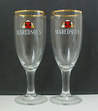 MAREDSOUS Abbey Belgian CHALICE BEER GLASSES - PAIR