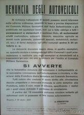 § FASCISMO RSI - Manifesto murale  Bergamo Ottobre 1943
