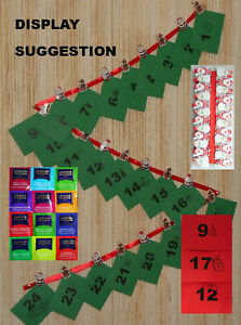 Fruit Tea Advent Calendar Non Chocolate Advent Calendar Herb Tea - Ribbon & Pegs
