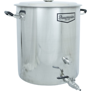 14 Gallon Brewmaster Stainless Steel Brew Kettle 2 Ports Beer Wine Moonshine