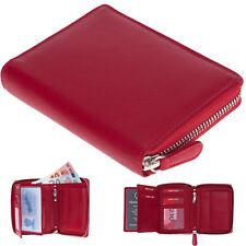 a93a5f85375d2 Geldbörse Damen Leder Old River Zipp Damengeldbörse Reißverschluss 100001  Rot