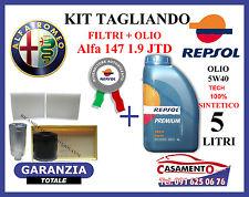 KIT TAGLIANDO FILTRI + OLIO REPSOL 5W40 5LT ALFA 147 1.9 JTD