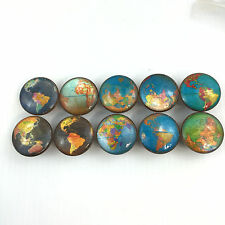 Set of 10 Blue Globe Map Cabinet Knobs Drawer Knobs