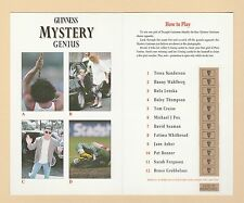 ADVERTISING  -  GUINNESS   MYSTERY  GENIUS  FOLDING  CARD  (C)