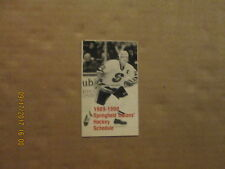 AHL Springfield Indians Vintage Defunct 1989-1990 Logo Hockey Pocket Schedule