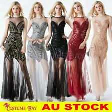 1920s Flapper Formal Cocktail Sequin Long Dress Evening Wedding Party Bridesmaid