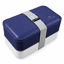 Blue Bento Box No Soup Cup Included NEW, Free Shipping
