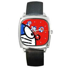 Anime Doraemon cute adorable Face Leather wrist watch