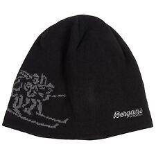 Bergans of Norway - 58 (L) - Black/Gray Wool Blend Lined Birkebeiner Beanie Hat