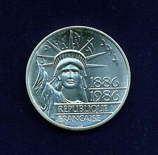 FRANCE 1986  100 FRANCS PIEFORT/PIEDFORT SILVER COIN, GEM BRILLIANT UNCIRCULATED
