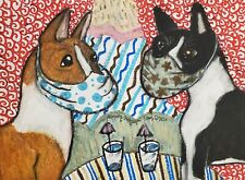 Basenji in Quarantine Art Print 11x14 Signed by Ksams Collectiblle Vintage Style