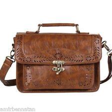 Ecosusi Women Designer Vintage Faux Leather Satchel Shoulder Messenger Bag Purse