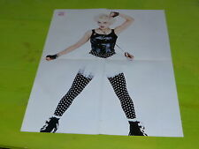MADONNA -  VINTAGE FRENCH PROMO BIO/POSTER FROM THE 80'S!!!!!!!!!!!!!!!!!!
