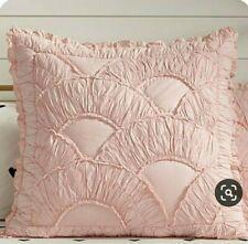 Pottery Barn Teen Emily & Meritt Petticoat Sham Pink Pale Blush Ruffle Euro New