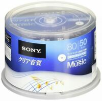 X50 SONY Blank Music Audio CDR CD-R Discs 48x White label 50CRM80HPWP