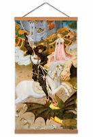 Martorell Saint George Killing Dragon Painting Horse Queen Canvas Wall Art Print