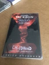 MICHAEL JACKSON SCREAM FACTORY SEALED CASSETTE SINGLE C6