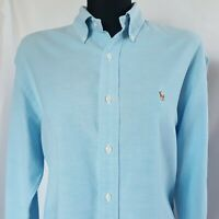 Ralph Lauren Pre-Loved Women's Shirt Size 10 Long Sleeve Blue Oxford Type