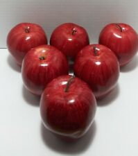 6 Artificial Apple Red Delicious Large - Styrofoam Fake Fruit Apples Decorative
